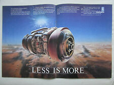 11/86 PUB TURBOMECA ROLLS-ROYCE RTM322 TURBOSHAFT HELICOPTER ENGINE ORIGINAL AD