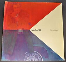 1966 AMC Marlin Catalog Sales Brochure Nice Original 66