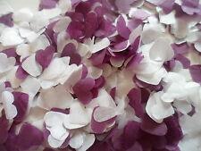 1500 Purple and White Tissue Hearts/Wedding Confetti/Celebration/Decoration