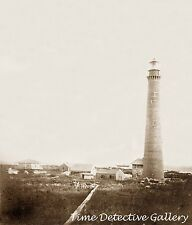 Sand Island Lighthouse off Mobile Point, Alabama - 1859 - Historic Photo Print