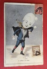 CPA. Illustrateur A. MULLER. 1903 ou 1905. L'Oeuf à la neige. Caricature. Marin