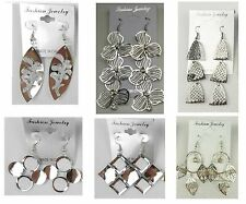 Wholesale Jewelry lots 6 pairs Mixed Style Silver Plated  Drop Earrings #A14