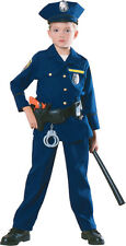 Kids Police Officer w/ POLICE BELT Costume Cop Costume Child Size Small 4-6