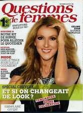 "Céline Dion New French magazine ""Questions de femmes"" n° 189 (october 2013)"