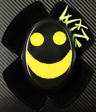WIZ SPARKY YELLOW-BLACK SMILEY KNEE SLIDERS TT BSB WSB MOTO GP