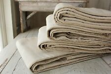 Vintage French Sheets linen cotton  4 MATCHING upholstery fabric CANVAS 23 LBS!!