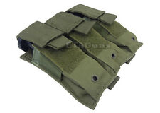 NcSTAR Triple MOLLE PALS Pistol Magazine Pouch Holster for Tactical Vests OD GRN