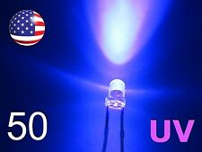 50pcs 3mm UV - Purple LED - Ultra Violet Water Clear Round Lamp Diode - DIY