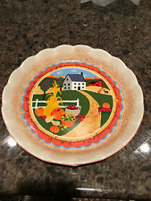AVON 2005 FALL HARVEST WALL DECORATIVE PLATE Folk Art May the Blessings of