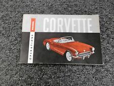 1956 Chevy Corvette Convertible Coupe Roadster Original Owner Operator Manual