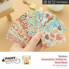 Geometric Patterns Matchbox Stickers For Diary Day Planner & Organizer 52 sheets