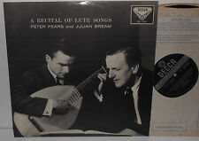 SXL 2191 A Recital Of Lute Songs Peter Pears And Julian Bream ED3 WB