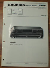 CD Player Wechsler CDC477 CDC 477 Grundig Service Manual Serviceanleitung