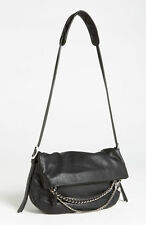 NWOT $1,495+ JIMMY CHOO Biker Chain Small BLACK Leather Crossbody Bag Purse New!
