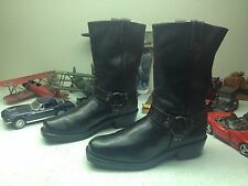 BOULET MADE IN CANADA DARK BROWN LEATHER ENGINEER ROAD BOSS HARNESS BOOTS 11.5E