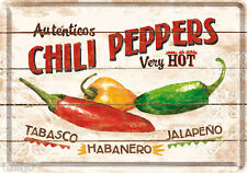 Nostalgic Art Chili Peppers very hot Tabasco Habanero Jalapeno Blechpostkarte