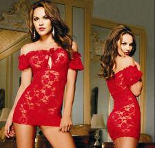 Nouveau rouge en dentelle hot sexy femmes lingerie sleepwear g-string - jouet sexuel uk vendeur