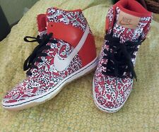 Nike Dunk Sky Hi Lib Nrg Nsw X Liberty London Red Wedges  6.5 shoes sneakers EUC