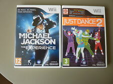 Wii & Wii U : Just Dance 2 & Michael Jackson The Experence Games