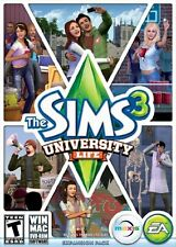 NEW Electronic Arts The Sims 3 University Life PC Game