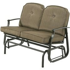 Outdoor Patio Furniture 2 Person Gliding Porch Swing Loveseat Garden Deck Bench
