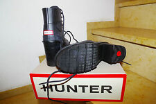 Hunter Gummi Gummistiefel High Heel Lace Up Breye Gr. 40 neu