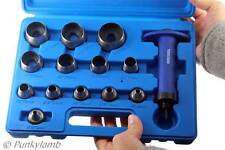 14pc Hollow Punch Set Hole Punch Tool Leather, Plastic, Foam, Fiber 5mm to 35mm