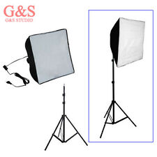 60cm x 60cm Photo Video Studio E27 Continuous Light Softbox + 220cm light stand