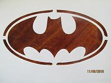 Batman Emblem Stencil 10 Mil Mylar Reusable for Airbrush, Cake Decorating, ect.