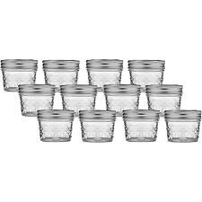 Ball 80400 Quilted Crystal Regular Mouth 4 Ounce Jelly Glass Jars, 12-Pack