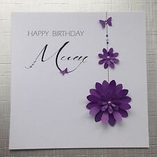 PERSONALISED Handmade BIRTHDAY Card  MUM SISTER FRIEND NAN