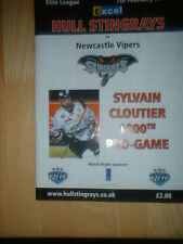2009/10 HULL STINGRAYS V NEWCASTLE VIPERS ICE HOCKEY - SYLVAIN CLOUTIER'S 1000TH