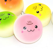 Cute Squishy Smile Motion Buns Soft Cream Odor Phone Straps Charms Collections