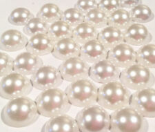 50 pcs. 12mm white flat back pearls headband centers DIY scrapbooking