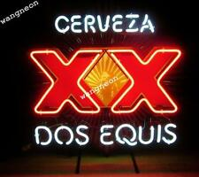 New Cerveza XX Dos Equis Beer Bar Real Glass Neon Light Sign FAST FREE SHIPPING