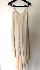 MaxMara SPORTMAX MOLVENO Cream/White Stripe Long Dress I36/F34/UK4/US2 $900