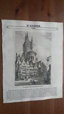 1838 L'Album Belle Arti: Veduta della Chiesa di San Martino a Colonia