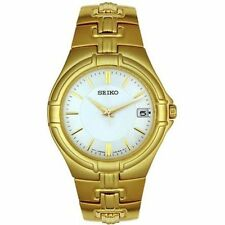 Seiko Men's SGEC70 Gold Tone Watch NEW YEAR/ GIFT/ WEDDING /ANNIVERSARY