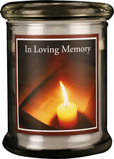 IN LOVING MEMORY LED LIGHT GLASS JAR CANDLE - STATUES AND PICTURES ALSO LISTED