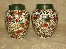 Antique Collectable A Pair Of Earthenware Vases- Cumberlidge & Humphreys England
