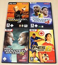 4 PC juegos colección pes pro evolution soccer fútbol 3 4 5 6 --- (2014)