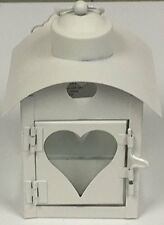 Mini Vintage Style Love Heart Cut Out Metal Lantern Tea Light Candle Holder Shab