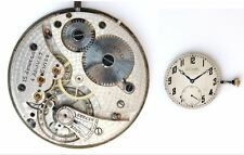 MOVADO original vintage watch movement + dial + hands + crown, working  (4785)