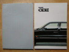 SAAB CDE orig 1985 1986 UK Mkt sales brochure + titled wallet