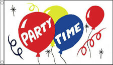 3' x 2' Party Time Flag Happy Birthday Decoration Banner Christmas New Year