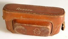 REVERE STEREO LEATHER CAMERA CASE, BROWN, W/STRAP