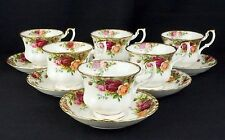 6 Royal Albert Old Country Roses Teacups & Saucers  VGC