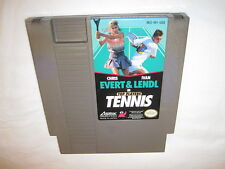Top Players Tennis Chris Evert & Ivan Lendl (Nintendo NES) Game Cartridge Exc!