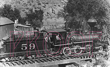 Union Pacific, Denver & Gulf (UPD&G) Engine 59 at Bear Creek in 1895 - 8x10