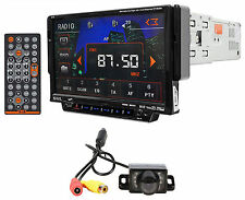 SSL SD702 1-Din In Dash Touchscreen DVD Car Receiver w/ USB/SD/AUX+Remote+Camera